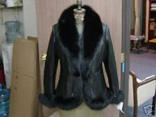 Fabulous GUCCI BLACK FOX LEATHER JACKET $9500 Medium