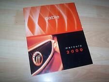 Catalogue / Brochure MERCURY Sable 2000 USA //
