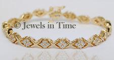 2.16 Carat Diamond Bracelet in 14k Yellow GoldHug & Kiss