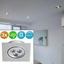 3er Set LED Einbau Strahler schwenkbar Treppenhaus Spots Beleuchtungen Lampen