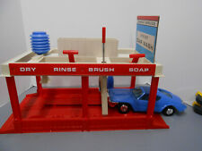 VINTAGE TOPPER TOYS JOHNNY SERVICE : CAR WASH AND CAR ,  W/BOX /INSTRUCTIONS