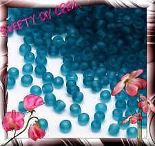 Perles de Rocaille rondes 2mm en verre dépoli transparent Bleu Stormcloud 20g