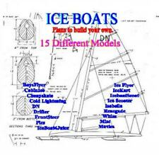 ICE BOAT PLANS, 15 Designs