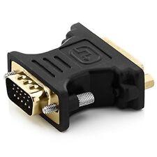 deleyCON DVI-I zu VGA Adapter - DVI-I Buchse zu VGA Stecker - für Monitor, PC