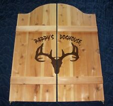 """Ranch Saloon Cafe Swinging Doors w/ Your Name 53"""" to 64"""" wide set"""