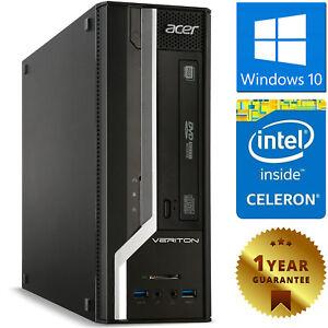 PC COMPUTER RICONDIZIONATO ACER X2631G DUAL CORE RAM 4GB SSD 120GB WINDOWS 10