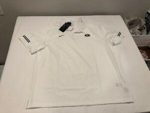 NWT $80.00 Nike Mens Georgia Bulldogs Coach Flex On Field Polo White Size XXL
