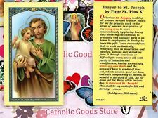 Prayer to Saint St. Joseph by Pope St. Pius X - Laminated Holy Card