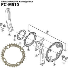 Shimano cadenas hoja 32 dientes Deore fc-m510 plata LK 104mm