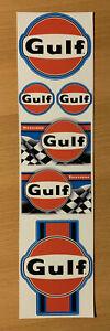 GULF Aufkleber Set Racing Oldtimer Rally Retro Youngtimer Vintage Auto V8 MG651