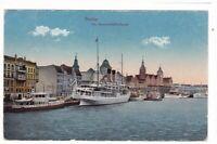 uralte AK Stettin Am Dampfschiffbollwerk Schiffe 1921 //30