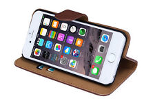 Leather Wallet Cases with Kickstand for Apple Phones