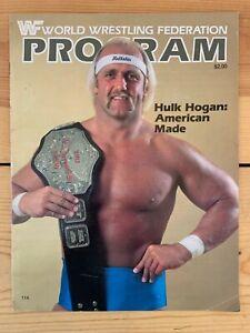 WWF World Wrestling Foundation Program #114 Hulk Hogan Roddy Piper W/ Inserts