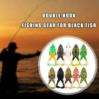 Double Propellers Frogs Soft Bait Soft Silicone Fishing Lures For Fishing Black