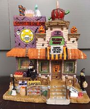 Spooky Town Lemax Halloween~Trick or Treat Candy Shop~Lighted Building RETIRED