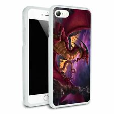 Red Horned Dragon Unleashed Wizard Slim Hybrid Case Fit iPhone 8, 8 Plus, X