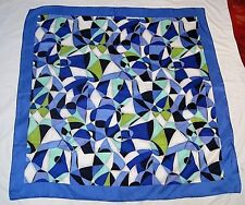 DONCASTER Very Beautiful Modern Abstract Design 100% Luxurious Silk Scarf NWT!