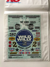 NOS Original Tamiya Wild Willy 2 Kit 58242 Decals 1/10 RC NEW decalsheet 1999