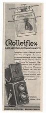 Pubblicità epoca 1933 ROLLEIFLEX FOTO PHOTO old advert werbung publicitè reklame