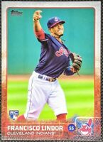 FRANCISCO LINDOR 2015 Topps Update Rookie RC Base #US82 Cleveland INDIANS
