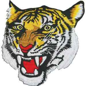 Embroidered Tiger Head Badge Patch Sew Martial Arts MMA Sports Team Big Cat