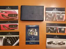 2015 MASERATI GRANTURISMO AND SPORT CONVERTIBLE   OWNERS MANUAL SET WITH CASE.