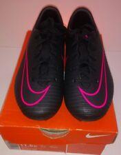 NIKE Junior Mercurial Vapor XI FG Football Boots RRP £44.99 - Black & Pink UK 11