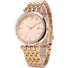 Taylor Cole Women's Rose Gold Date Display Stainless Steel Quartz Wrist Watch