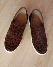Nuevas zapatillas de piel de leopardo impresas Zara Zapatos/Flat Size UK 4 EU 37