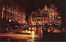 B29772 bruxelles belgium main square at night car pan am advertsing aviation