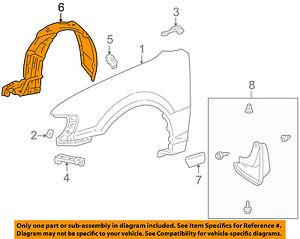 TOYOTA OEM 98-00 Corolla-Front Fender Liner Splash Shield Right 5387502030