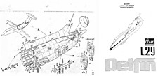 Aero Vodochoy L-29 Delfin Jet Parts Service Manual Archive 1960's 1970's Period