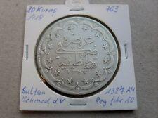 20 Kurush 1918 Kurus Piaster große Silber Münze #763