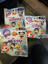 Lot of 3 Disney Mystery Minis Collectible Plush GameStop Exclusive Backpack Clip