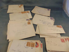 Philatelist 44 cancelled stamps USA 1912 to 1946 on envelopes Philadelphia PA