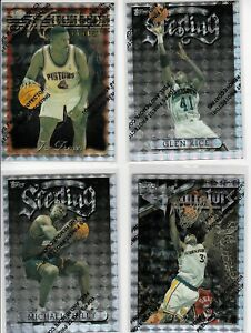 90'S INSERT LOT (4) DIFFERENT 1996-97 TOPPS FINEST SILVER UNCOMMON REFRACTOR
