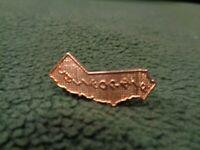 "State Shape California Gold Tone Metal Lapel Pin 1"" Height"