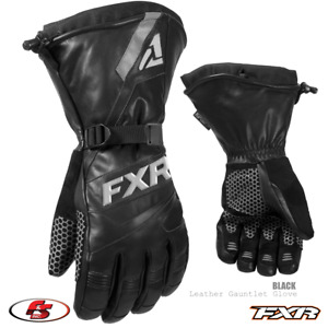 NEW 2021 FXR LEATHER GAUNTLET Snowmobile GLOVE Black L 3XL 4X Motorcycle