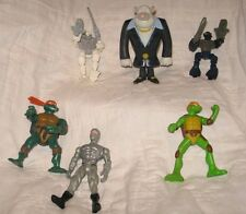 Vintage 6 assorted action figures Ninja Turtles, Lego Bionicles, Flush away
