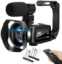 Video Camera Camcorder 4K WiFi 48Mp Vlogging Camera for YouTube Ir Night Vision
