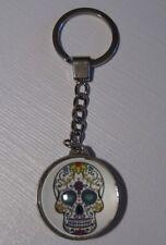 Totenkopf Skull Glas Schlüsselanhänger Keychain NEU (A55v)