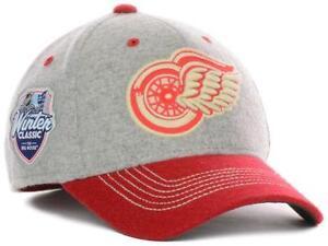 New Licensed Detroit Red Wings Winter Classic Wool Flexfit Hat S/M  LAST ONES!