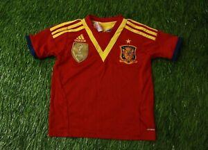 SPAIN 2013 FOOTBALL SHIRT JERSEY CONFEDERATION HOME ADIDAS ORIGINAL YOUNG XS //