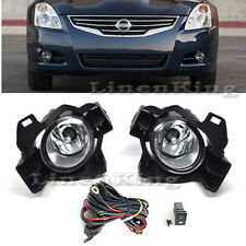 Fog Lights Bumper Lamps Kit Clear For 2010-2012 Nissan Altima 4Dr Sedan FL7062