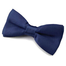 Noeud Papillon Enfant Réglable Satin Bleu Marine - Children Bow Tie Adjustable