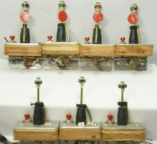 """Custom Made O Scale Manual Green/Red 2"""" Inches Tall Switch Machine Lanterns x7"""