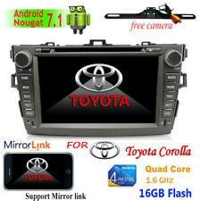8'' Android 7.1 Car Stereo DVD Player Radio 3G 4G Wifi BT GPS For Toyota Corolla