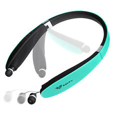 SAVFY Ecouteur Casque Pliable Bluetooth 4.1 Intra-auriculaire Sans fil Bleu