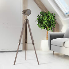 Vintage Tripod Floor Lamp Spotlight Searchlight Height Adjustable Copper Finish
