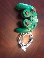 Nintendo Wii U Zelda Link Wired Fight Pad Green Super Smash Bros Controller!